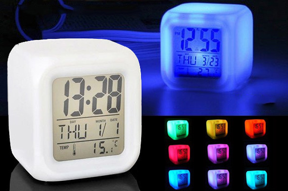 Aurora Colour Changing Alarm Clock
