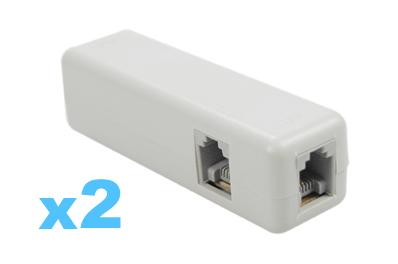 FREE Ozstock Day: 2 x ADSL Broadband Telephone Line Filter Splitter
