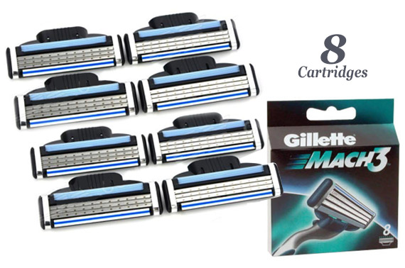 Gillette Mach3 Replacement Razor Blades (8 cartridges)