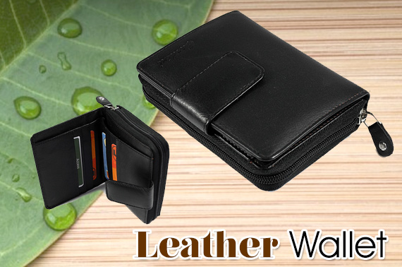 Quality Ladies Leather Wallet - Black