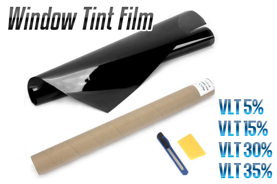 Window Tint Film Black 5% 15% 30% 35 % VLT Roll 76cm x 7M