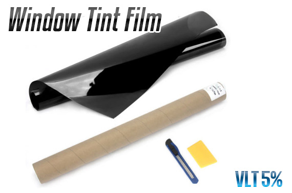 Window Tint Film Black 5% VLT Roll 76cm x 7M