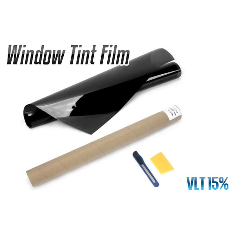 Window Tint Film Black 15% VLT Roll 76cm x 7M