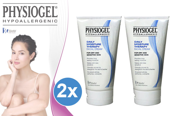 2x Physiogel Hypoallergenic Daily Moisture Therapy Cream 150ml