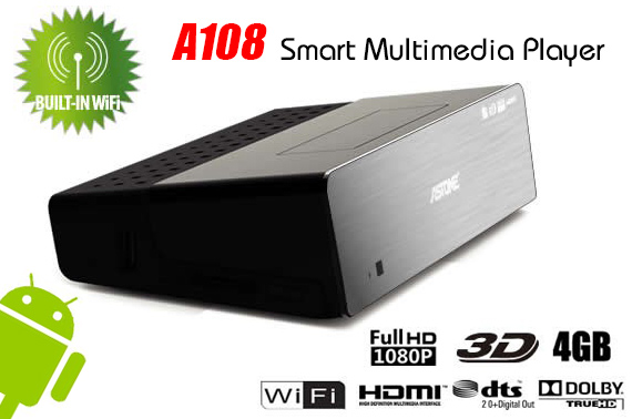 Astone A108 Full HD Android 4.0 Smart Multimedia Player