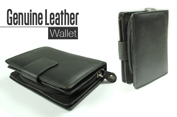 Super Deal: Quality Ladies Leather Wallet - Black
