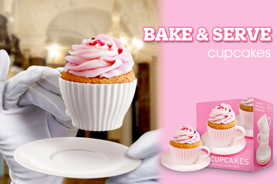 4 Tea Cupcakes - Bake & Serve Cupcake Silicone Moulds