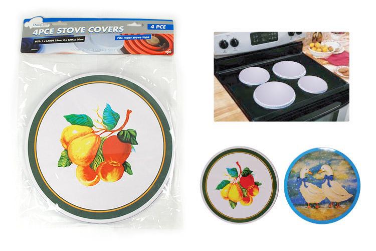 4-Piece Round Stove Burner Covers