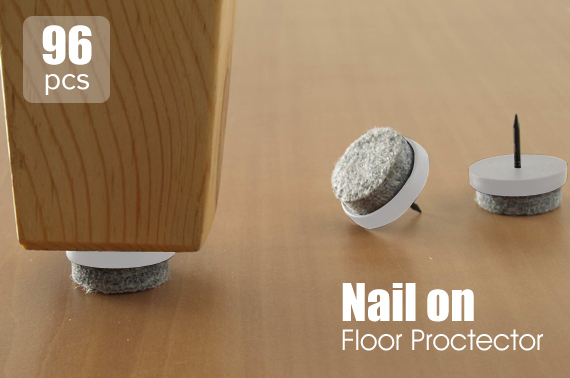4x 24-Pack Nail-On Furniture Skid Protectors