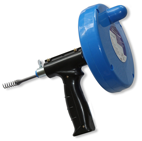 Gun Type Spinning Auger Drain Cleaning Tool