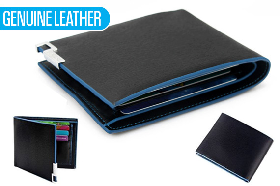 Mens Stylish Genuine Leather Slim Wallet