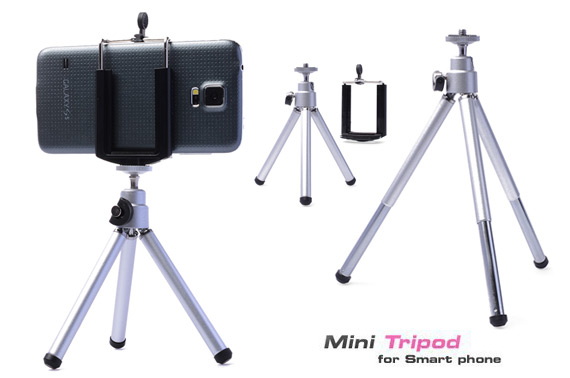 Universal Rotatable Mini Stand Tripod Mount+Holder for Mobile Phones & Camera