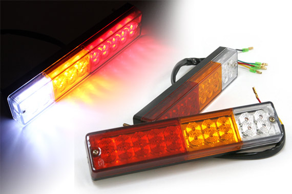 2x 12V 20 LED Truck Rear Light