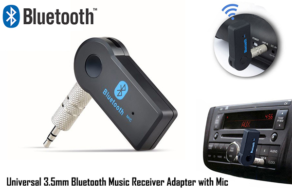 FREE Shipping: Universal 3.5mm Bluetooth Music Receiver Adapter with Mic