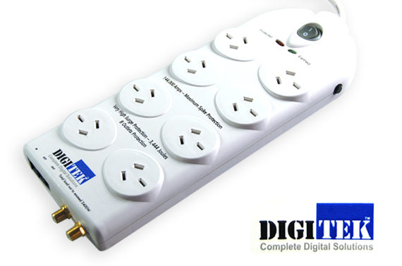 8 Way Professional Surge-Protected Power Board...
