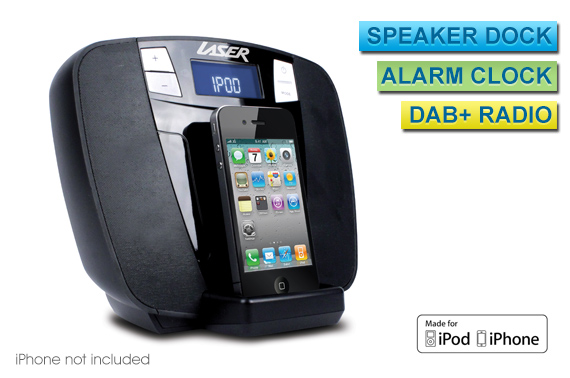 iRange Speaker Dock with DAB+ Radio and Alarm Clock