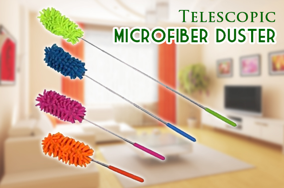 Mini Telescopic Soft Microfiber Duster