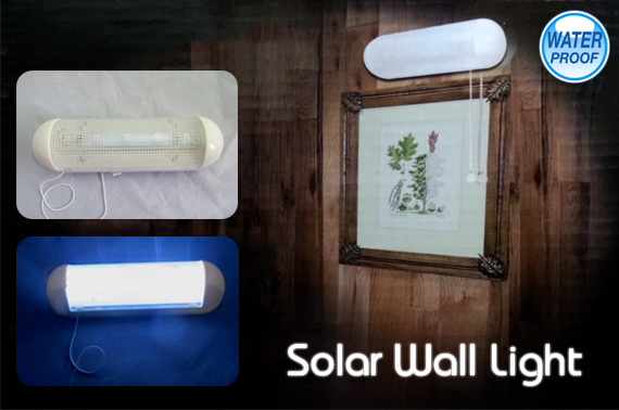 Solar Panel Powered 5 LED Indoor/Outdoor Wall Light