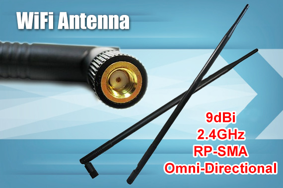 9dBi 2.4GHz High Gain Omni WiFi Antenna with RP-SMA Connector