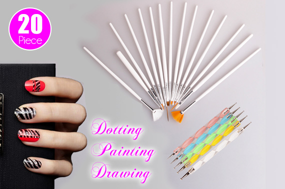 20-Piece Nail Art Design Tool Set
