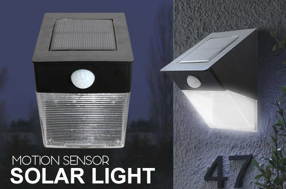 Solar LED Light with Motion and Light Sensors