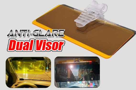 Day & Night Anti-glare Dual Visor Shield