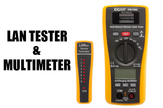 2-in-1 LAN TESTER & MULTIMETER COMBO