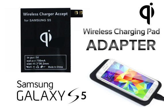 QI Wireless Charging Pad Adapter for Samsung Galaxy S5