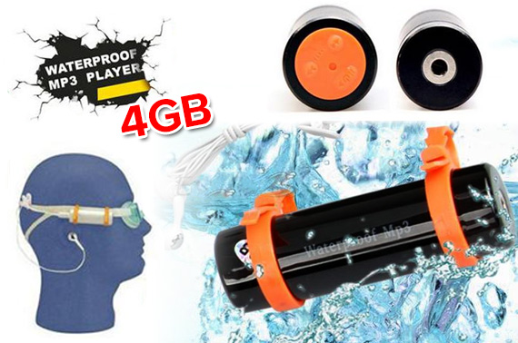 4GB Waterproof MP3 Player with FM Radio