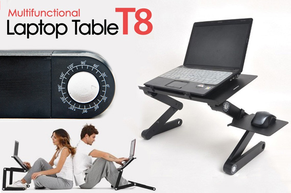 Foldable Laptop Table with 2 Cooling Fans