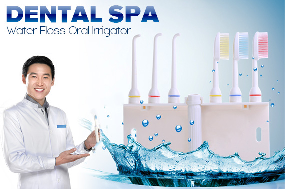 Oral Irrigator with Toothbrush