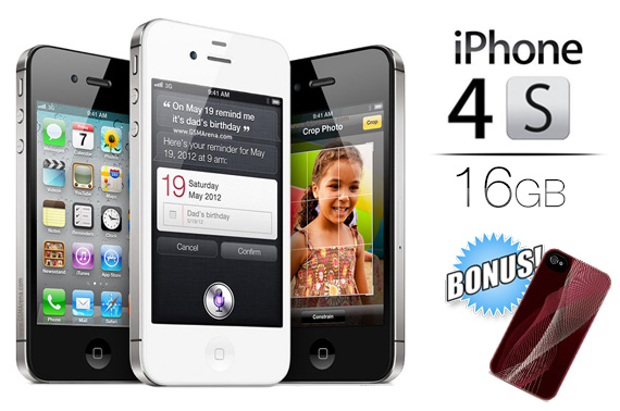 Ex-Lease Unlocked Apple iPhone 4S 16GB - BLACK or WHITE