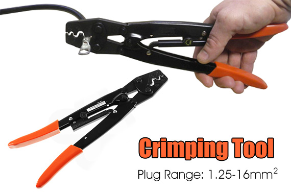 Lug Terminal Crimping Tool with Ratchet Operation