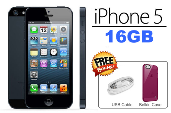 Ex-Leased Unlocked Apple iPhone 5 - 16GB Slate Grey