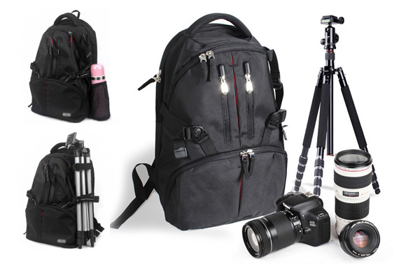 Shockproof & Waterproof Deluxe DSLR Camera Backpack