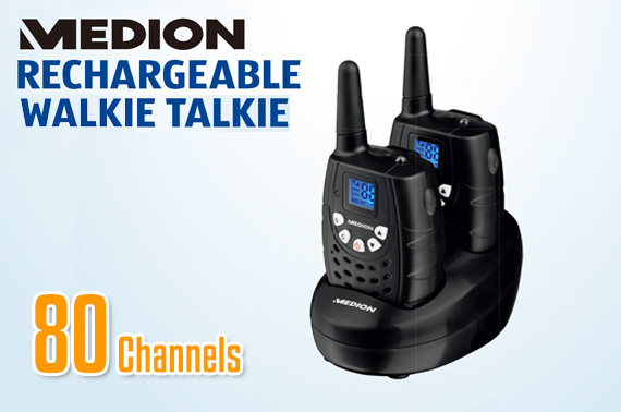 Ex-leased Medion Twin Pack 80 Channel Handheld Walkie Talkie