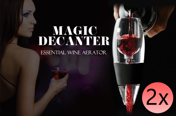 2x Magic Wine Decanter and Sediment Filter