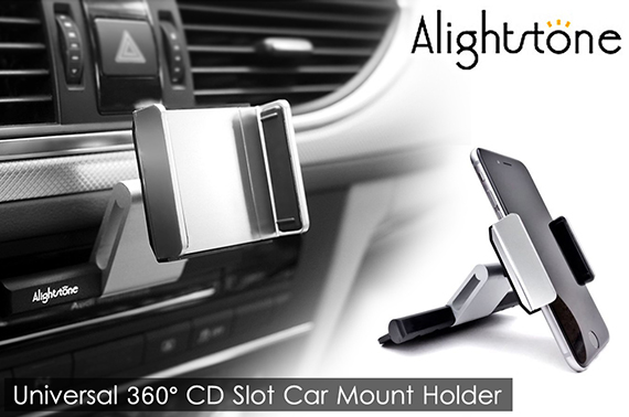 ALIGHTSTONE Universal CD Slot Car Mount Holder For Mobile Phones