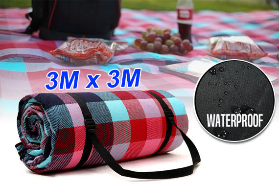 Extra Large 3m*3m Cashmere Picnic Blanket