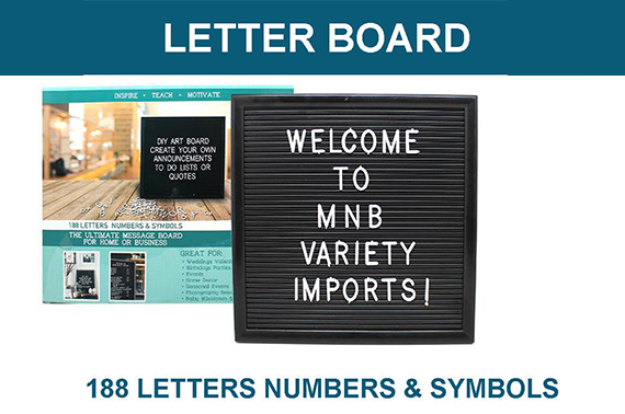 Letter Board 188 Letters Numbers Symbols Included
