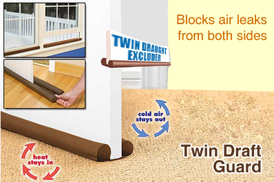 Twin Draft Guard - Door and Window Guard against Air Leak from Both Sides