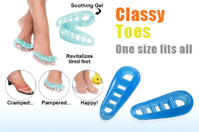 FREE Ozstock Day: Classy Toes - The Cramped Toe Gel Stretcher and Tired Feet Revitalizer