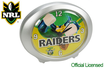 Official Licensed NRL Canberra Raiders Clock