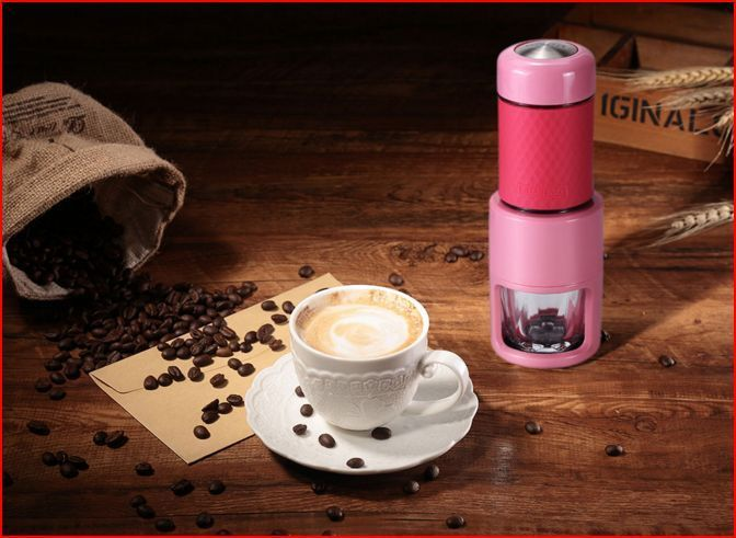 STARESSO All in One Portable Manual Coffee Maker - PINK