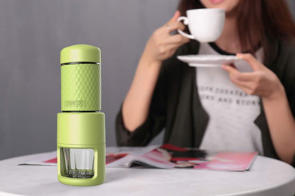 STARESSO All in One Portable Manual Coffee Maker - GREEN