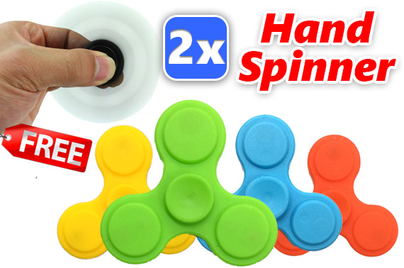 FREE Ozstock Day: 2x 3D Fidget Hand Spinner Stress Reliever Toy