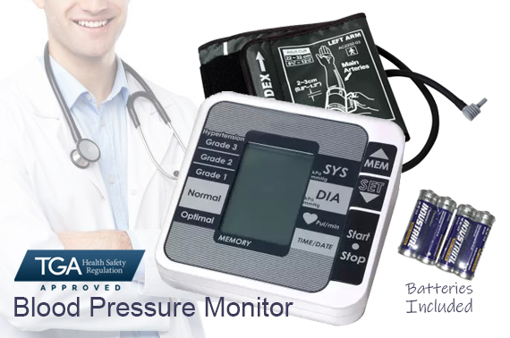 Automatic Digital Upper Arm Blood Pressure Monitor w/ LCD Display