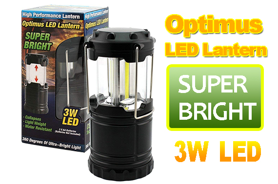Super Bright Optimus LED Camping Lantern Collapsible Water Resistant