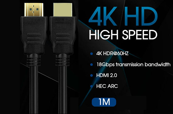 Ultra HD 4K 2160p HDMI Cable V2.0 Premium 3D High Speed With Ethernet HEC ARC
