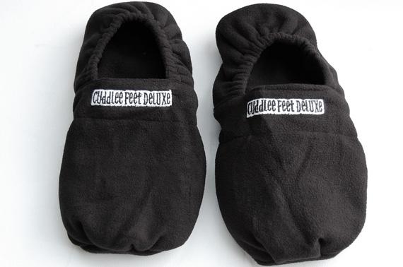 Quality Cuddlee Feet Microwaveable Hot Socks Slippers Black